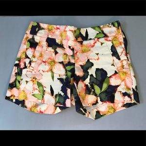J. Crew Floral Stretch Shorts